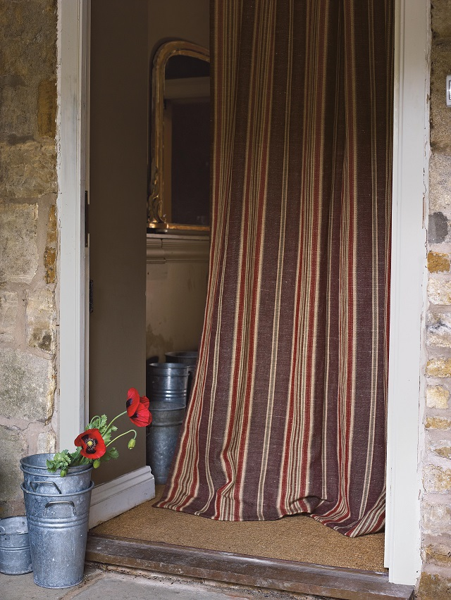 Henley Sanderson design. Interiors Fabrics curtains and soft furnishings by Room in Hay on Wye Herefordshire