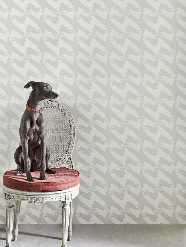 Barneby Gates wallpaper. Interior decoration by Room in Hay on Wye Herefordshire